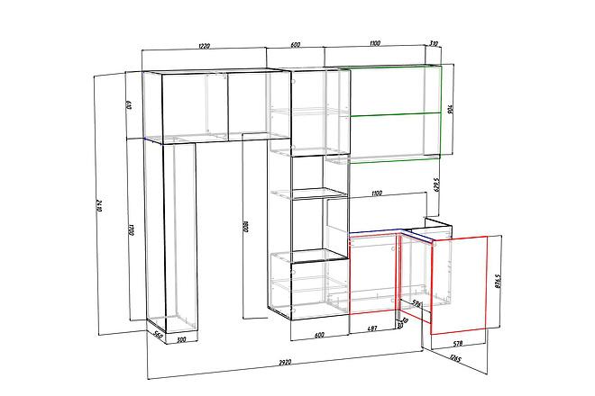 Конструкторская документация для изготовления мебели 81 - kwork.ru