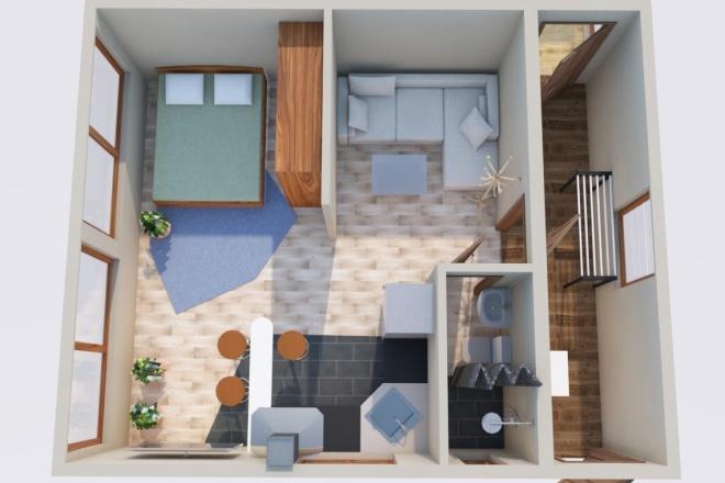 Создам планировку дома, квартиры с мебелью 19 - kwork.ru