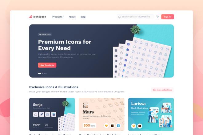 Сделаю дизайн страницы сайты 2 - kwork.ru