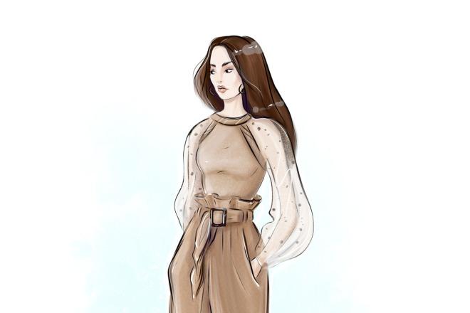 Создам fashion иллюстрацию 5 - kwork.ru