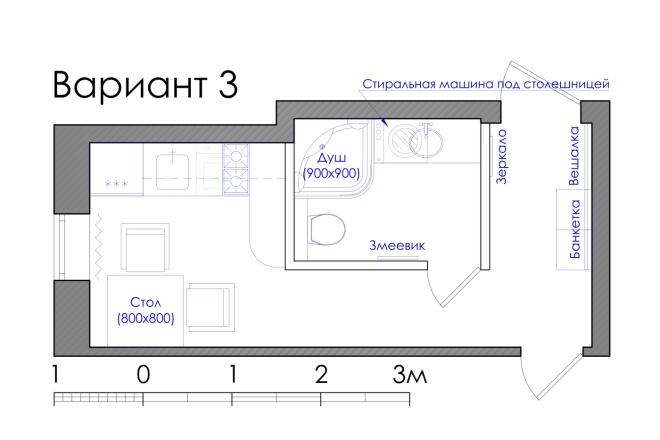 Планировка квартиры или жилого дома, перепланировка и визуализация 5 - kwork.ru