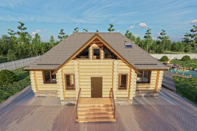 Фотореалистичная 3D визуализация экстерьера Вашего дома 89 - kwork.ru