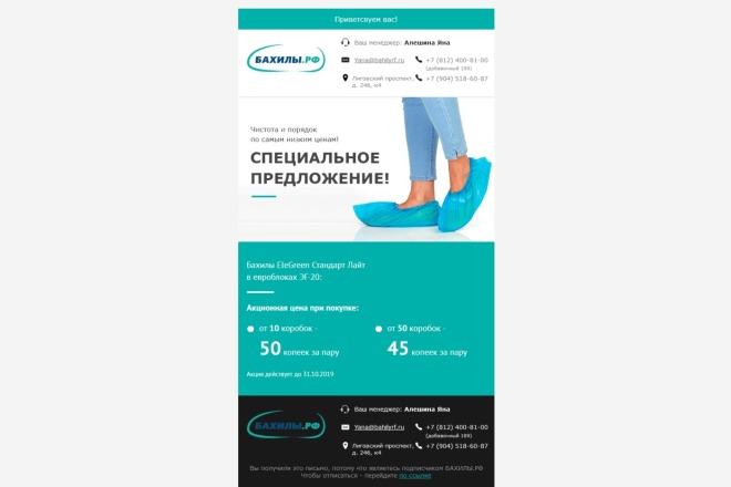Html-письмо для E-mail рассылки 50 - kwork.ru