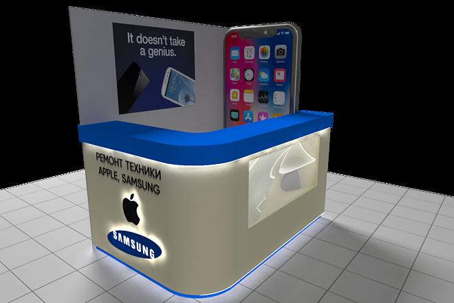 3D модель и визуализацию торгового места 11 - kwork.ru