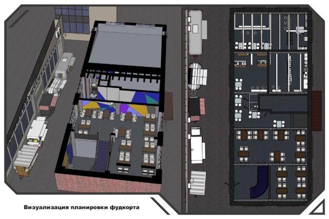 SketchUp l Планировка интерьеров 25 - kwork.ru