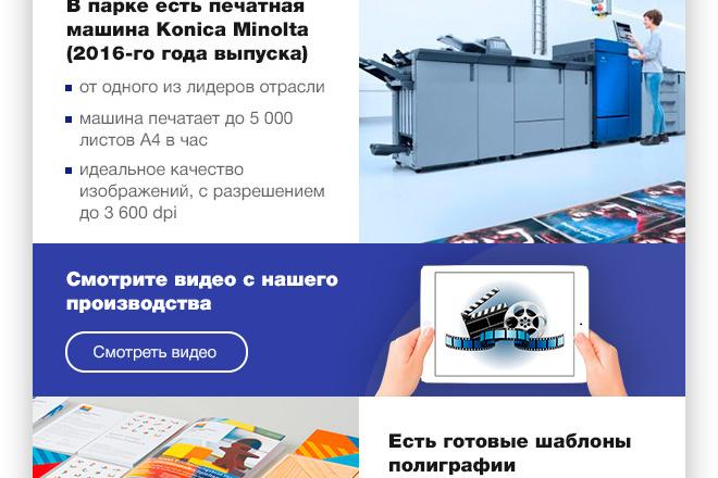 Дизайн Email письма, рассылки. Веб-дизайн 4 - kwork.ru