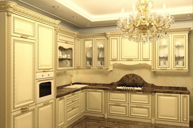 Дизайн и визуализация кухни 7 - kwork.ru
