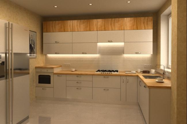 Дизайн и визуализация кухни 6 - kwork.ru