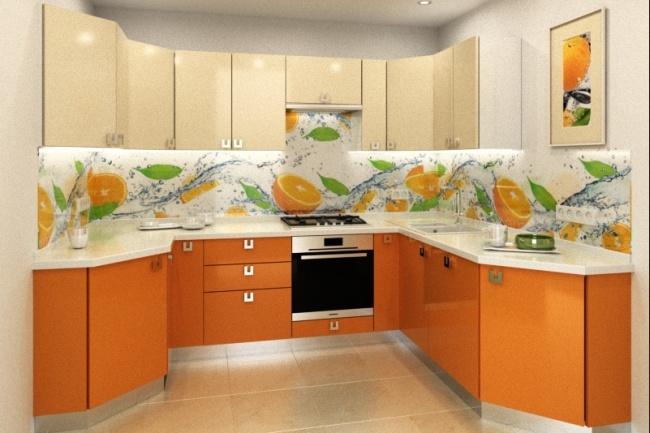 Дизайн и визуализация кухни 5 - kwork.ru