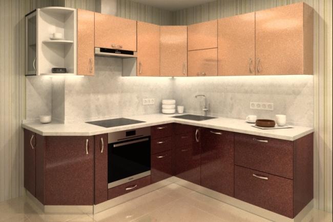 Дизайн и визуализация кухни 4 - kwork.ru
