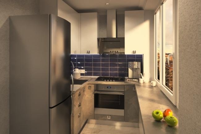 Дизайн и визуализация кухни 3 - kwork.ru