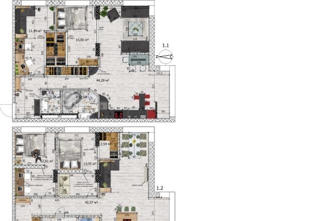 Интересные планировки квартир 32 - kwork.ru