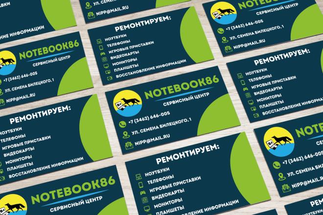 Дизайн визитки для вашей компании + исходники в подарок 1 - kwork.ru