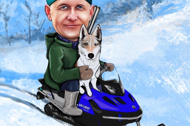Шарж по фото 7 - kwork.ru