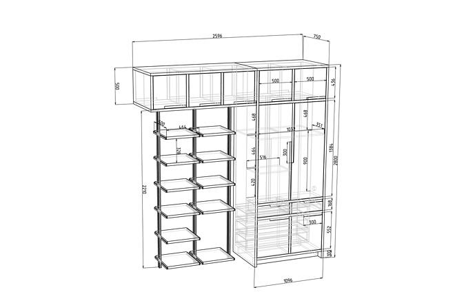 Проект корпусной мебели, кухни. Визуализация мебели 51 - kwork.ru