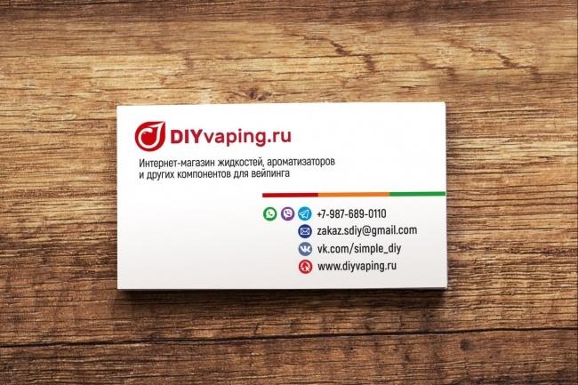 3 варианта дизайна визитки 90 - kwork.ru