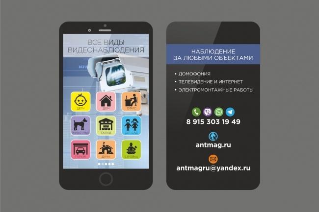 3 варианта дизайна визитки 83 - kwork.ru