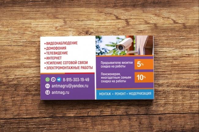 3 варианта дизайна визитки 77 - kwork.ru