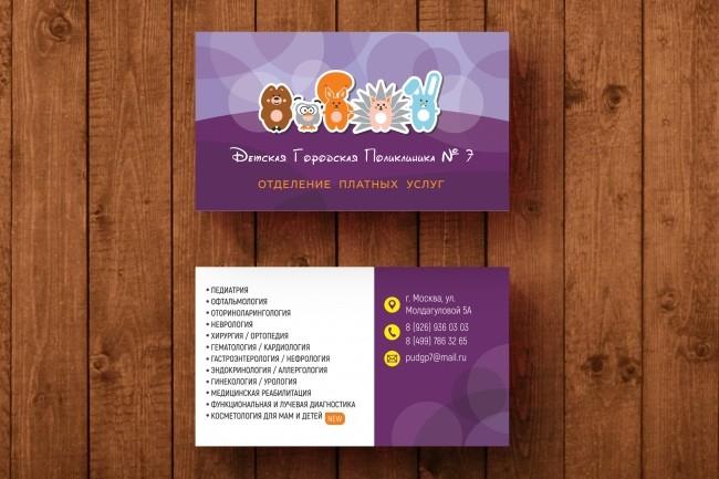 3 варианта дизайна визитки 76 - kwork.ru