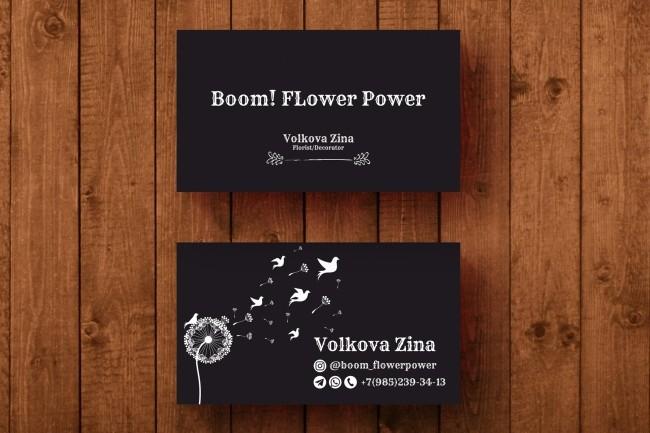 3 варианта дизайна визитки 74 - kwork.ru
