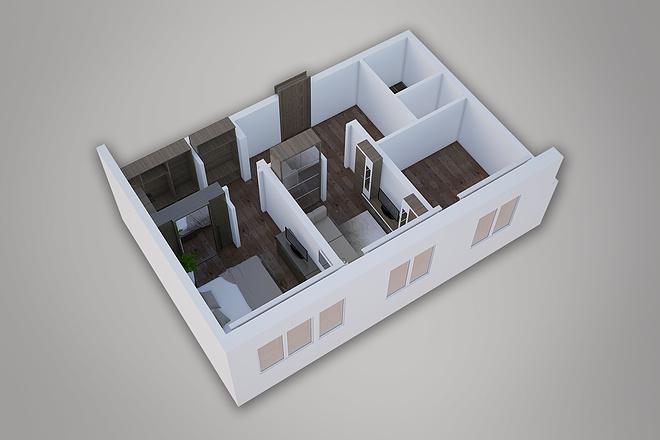 Сделаю 3д визуализацию плана для дома, квартиры 6 - kwork.ru