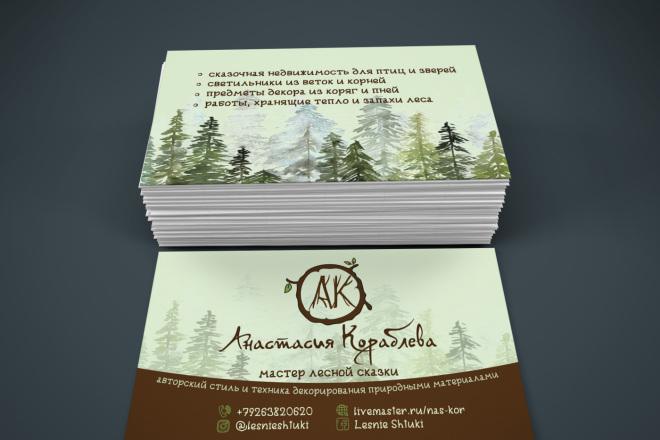 2 варианта визитки в исходнике 1 - kwork.ru