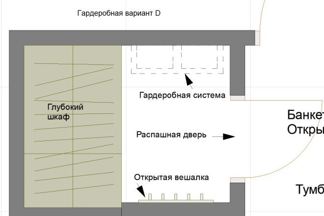 Планировочные решения. Планировка с мебелью и перепланировка 68 - kwork.ru