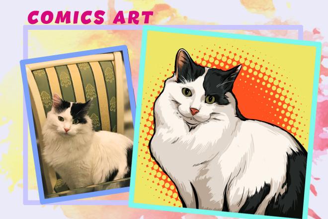 Нарисую портрет в стиле Pop Art,Comics Art, Stik Art 34 - kwork.ru