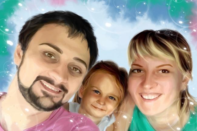 Рисую цифровые портреты по фото 42 - kwork.ru