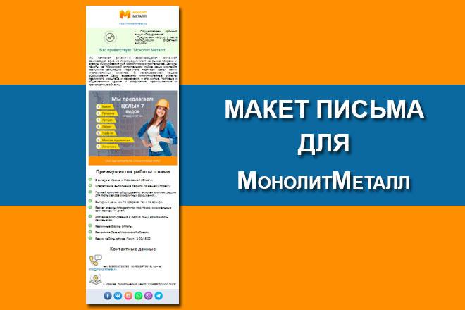 Создам html письмо для e-mail рассылки -адаптация + дизайн 48 - kwork.ru
