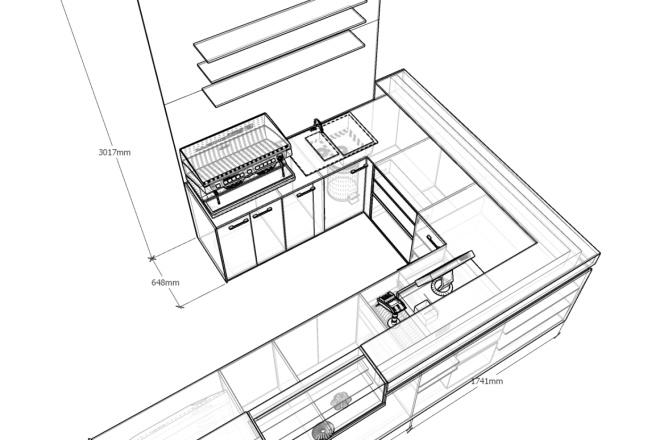 3д моделирование мебели 1 - kwork.ru