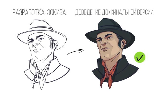 Создание иллюстрации в любой стилизации 10 - kwork.ru