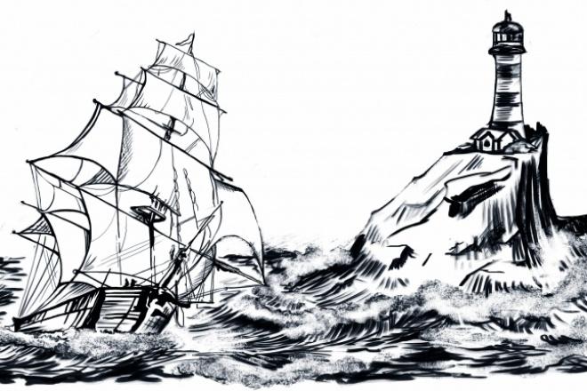 Нарисую иллюстрацию. Растровая графика 44 - kwork.ru