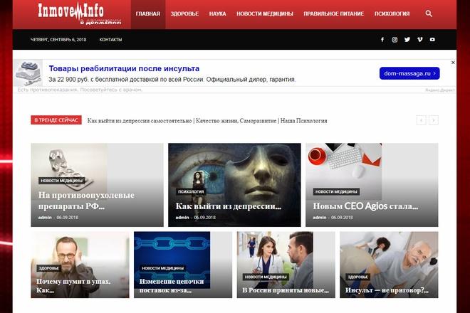 Создам автонаполняемый сайт на WordPress, Pro-шаблон в подарок 18 - kwork.ru