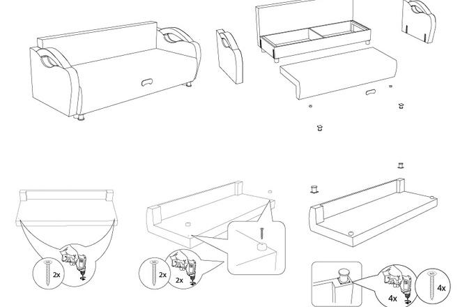Схема, инструкция сборки мебели 21 - kwork.ru