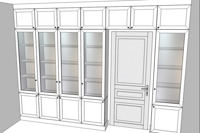Проект корпусной мебели, кухни. Визуализация мебели 55 - kwork.ru