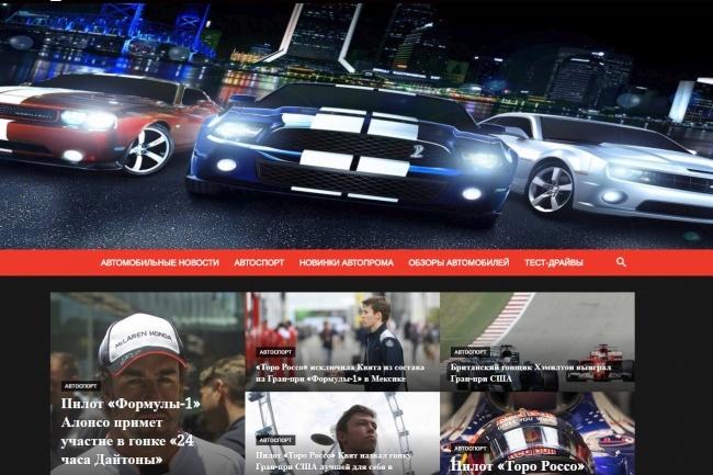 Создам автонаполняемый сайт на WordPress, Pro-шаблон в подарок 33 - kwork.ru