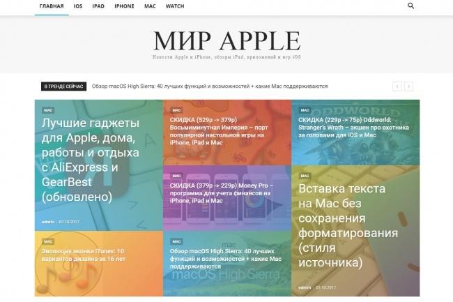 Создам автонаполняемый сайт на WordPress, Pro-шаблон в подарок 34 - kwork.ru