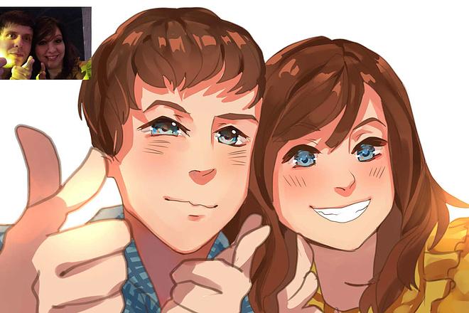 Создам ваш портрет в стиле аниме 14 - kwork.ru