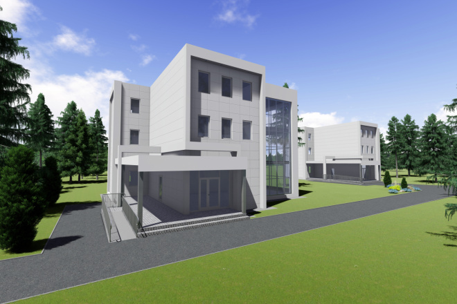 Визуализация экстерьера, фасадов здания 6 - kwork.ru