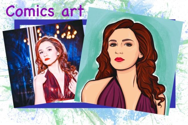 Нарисую портрет в стиле Pop Art,Comics Art, Stik Art 4 - kwork.ru