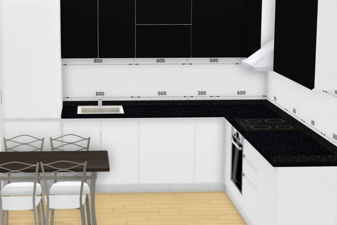 Создам 3D дизайн-проект кухни вашей мечты 8 - kwork.ru