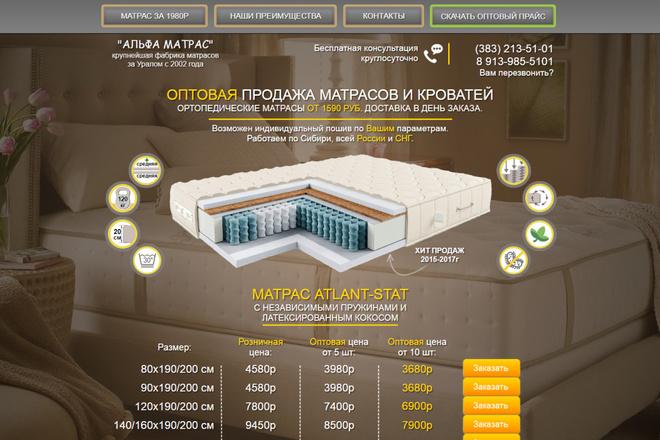 Копия сайта, landing page + админка и настройка форм на почту 17 - kwork.ru