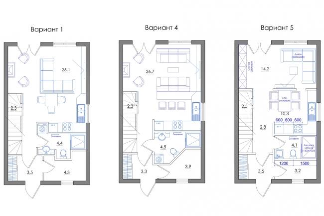 Планировка квартиры или жилого дома, перепланировка и визуализация 104 - kwork.ru