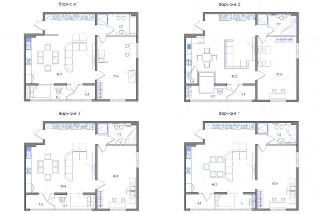 Планировка квартиры или жилого дома, перепланировка и визуализация 103 - kwork.ru