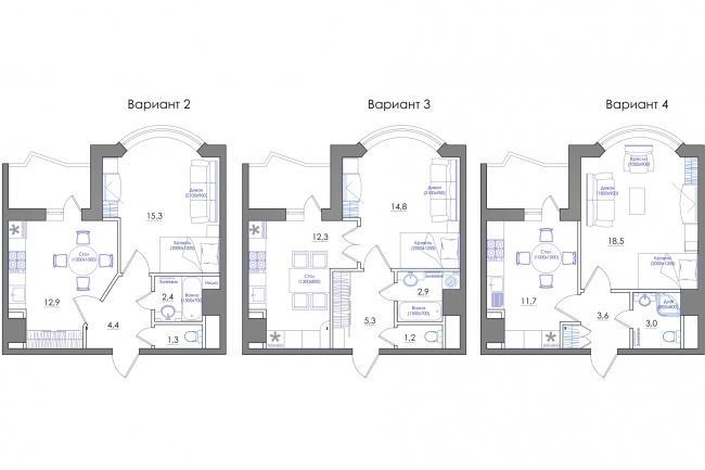Планировка квартиры или жилого дома, перепланировка и визуализация 102 - kwork.ru
