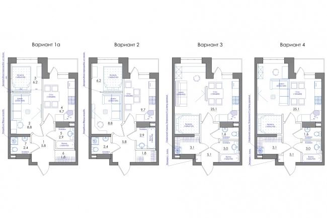 Планировка квартиры или жилого дома, перепланировка и визуализация 101 - kwork.ru