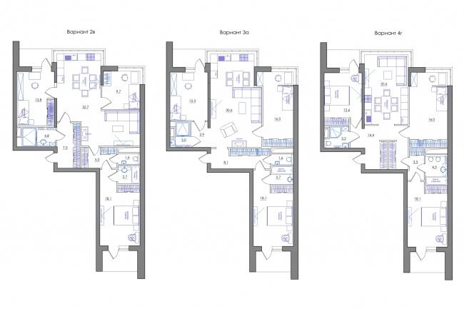 Планировка квартиры или жилого дома, перепланировка и визуализация 99 - kwork.ru