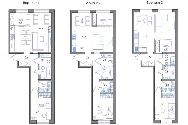Планировка квартиры или жилого дома, перепланировка и визуализация 98 - kwork.ru