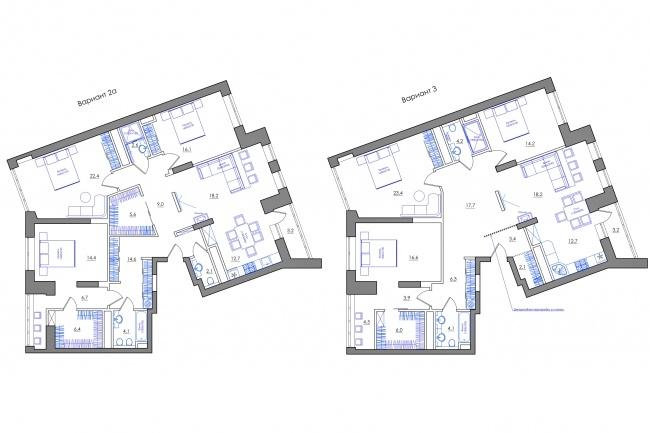 Планировка квартиры или жилого дома, перепланировка и визуализация 96 - kwork.ru